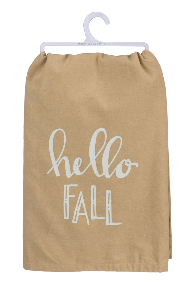 Primitives by Kathy - Hello Fall Dish Towel (P39229)