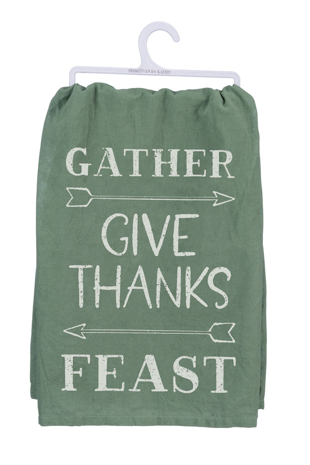 PBK - Gather Give Thanks Feast Dish Towel (P39344)