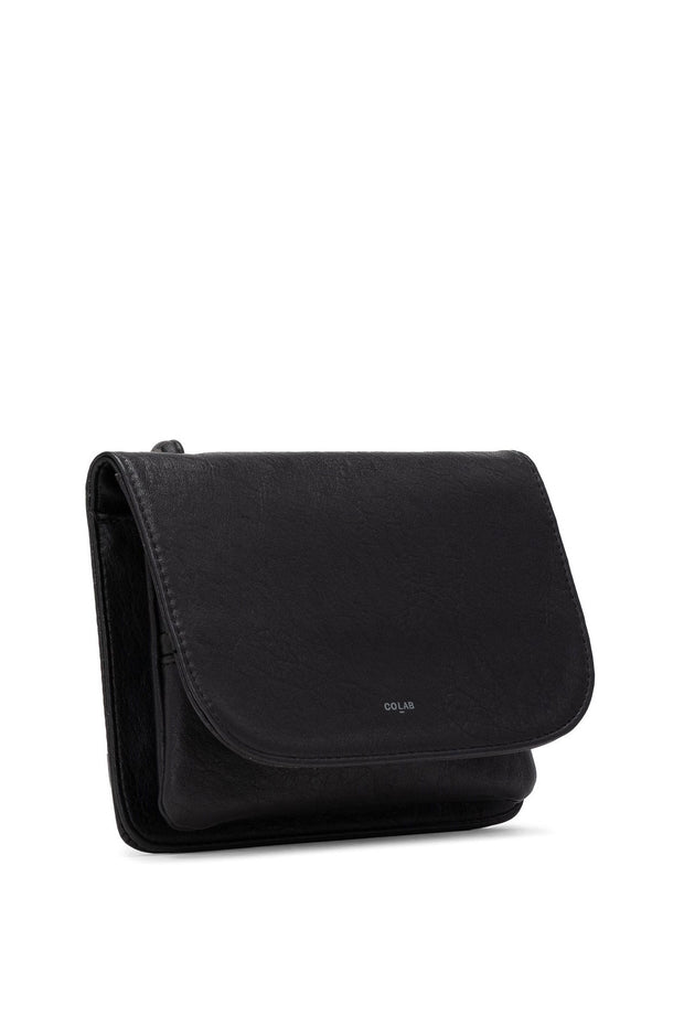 Tumbled Crossbody Carryall in Black