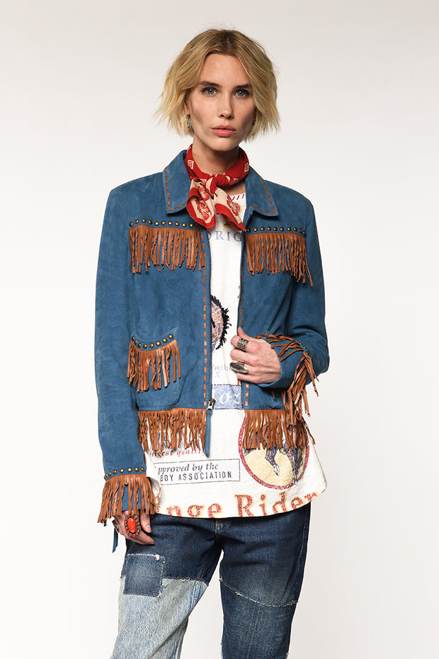 Double D Ranch - Roustabout Jacket in Blue (C2591)