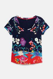 Desigual -Tropical Floral Multi Tee (20SWTK19/5000)