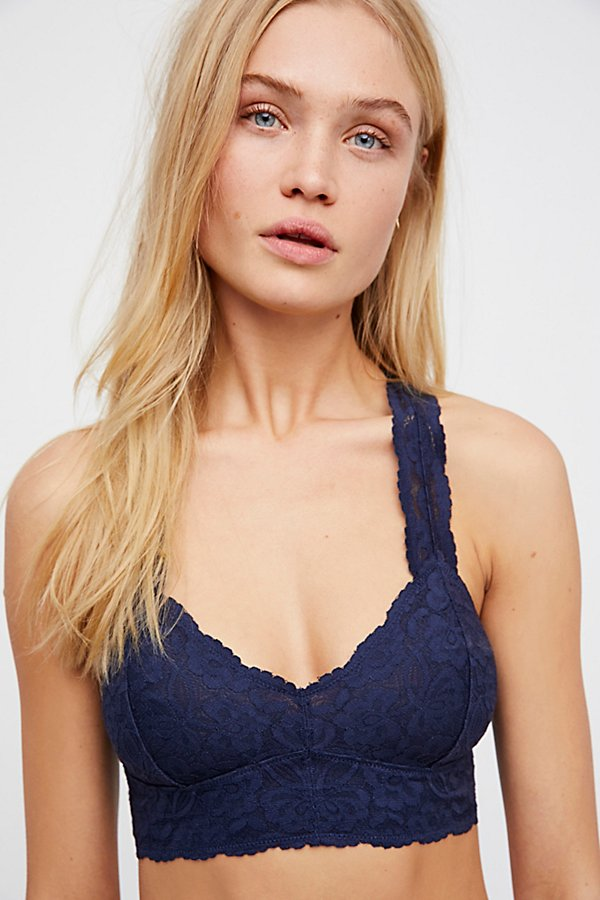 98c761a95b7 Free People - Galloon Lace Racerback Bra in Navy – Michelle s Ruidoso