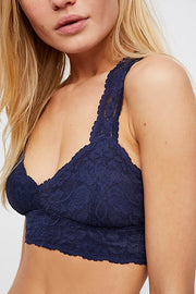 Free People - Galloon Lace Racerback Bra in Navy (OB590924)
