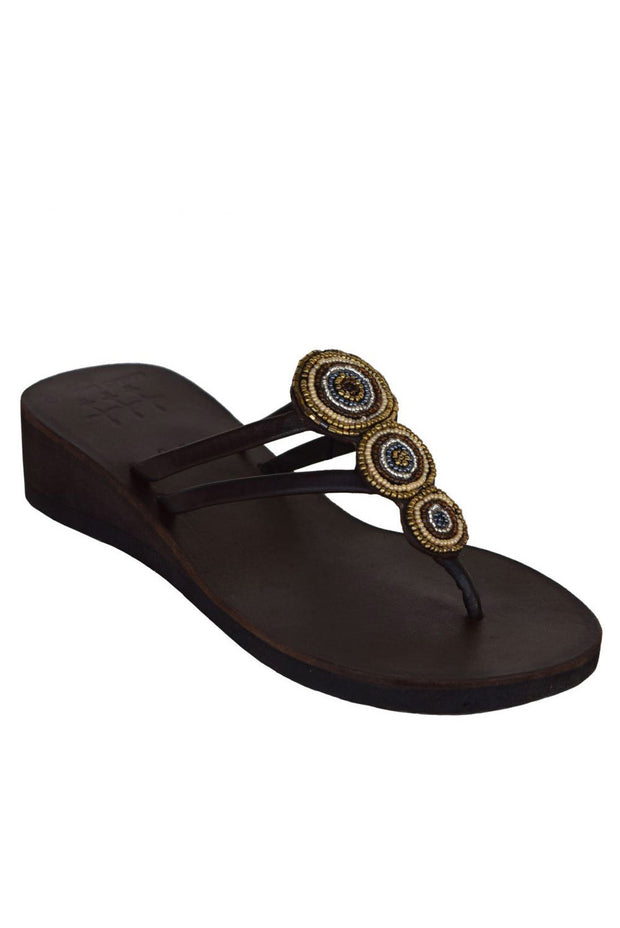 Global Girls - 3 Bears Mini Medallion Wedge in Brown (Brown)