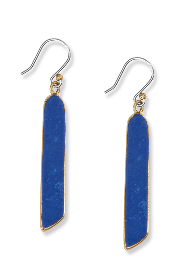 Lapis Long Drop Earrings
