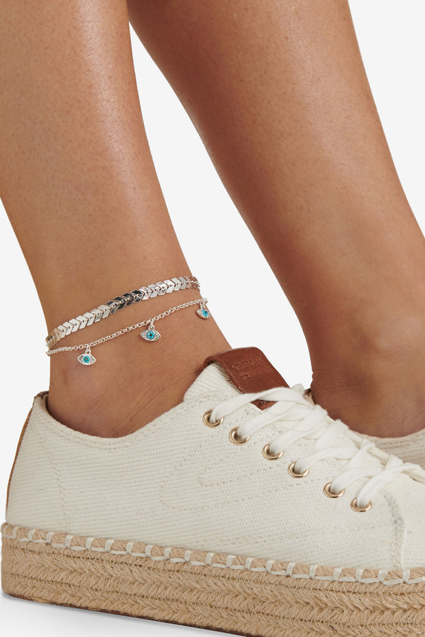 Evil Eye Anklet Set