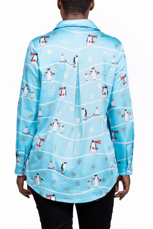 Berek - North Pole Stylin' Blouse in Blue (L20490C)