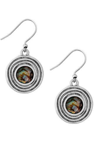 Lucky Brand - Set Stone Drop Earrings in Med. Grey (JLRY9641)