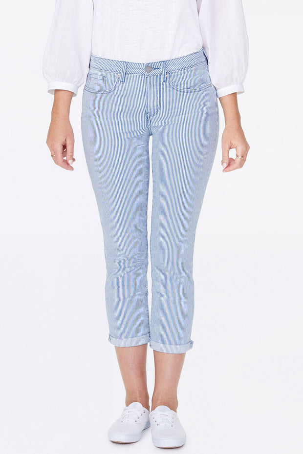 Chloe Striped Capri Jeans