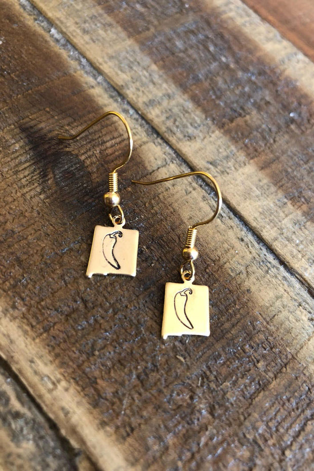 Root & Feather - New Mexico Chile Earrings (NM-C)