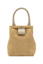 La Regale - Woven Pocket Book in Beige (RL70561)