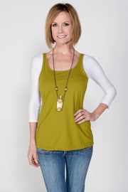 Sleevey Wonders - Jersey Basic 3/4 Sleeve in Off-white (S30104)