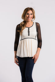 Sleevey Wonders - Basic 3/4 Sleeve Mesh in Black (S30103)
