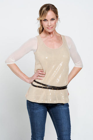 Sleevey Wonders - Basic 3/4 Sleeve Mesh in Ivory (S30103)