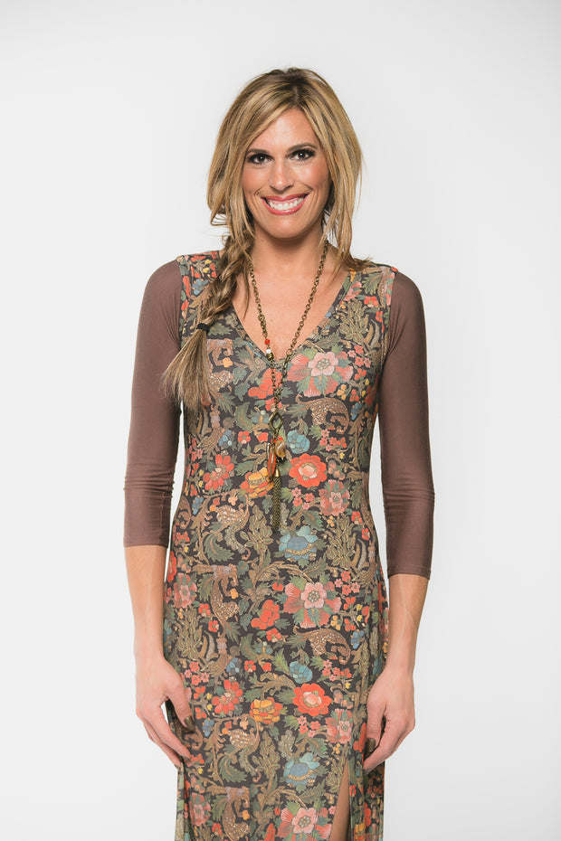 Sleevey Wonders - Jersey Basic 3/4 Sleeve in Brown (S30104)