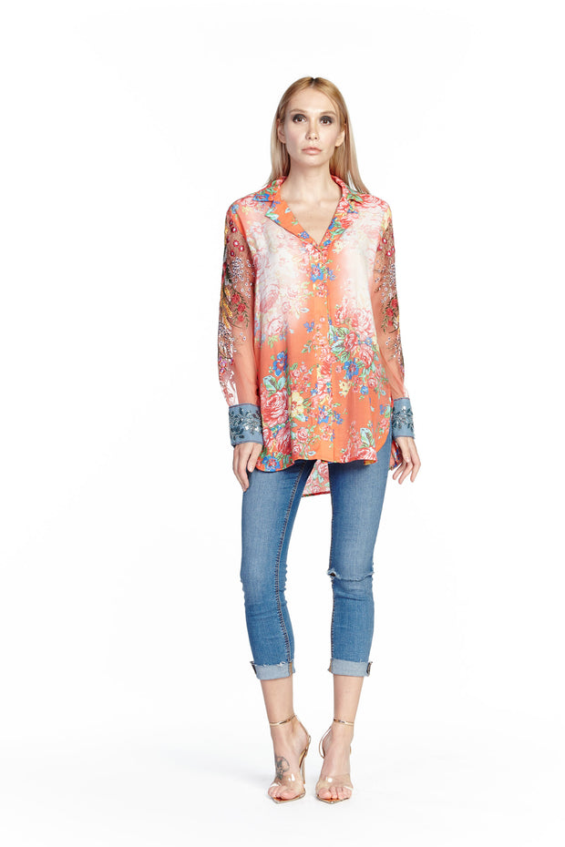 Aratta - Girls are Young Shirt in Coral (ED19B32)