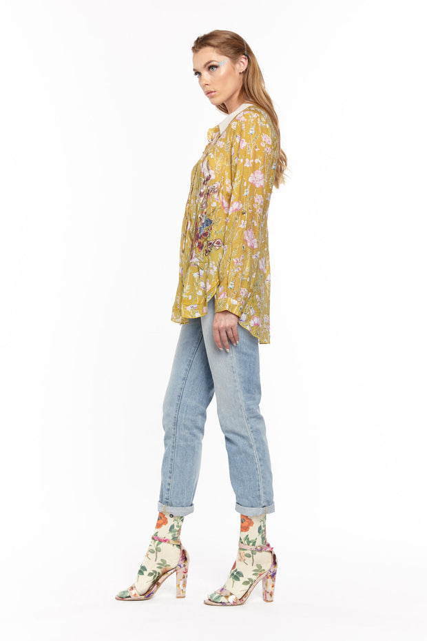 Aratta - Timeless Shirt in Mustard (ED20B315)