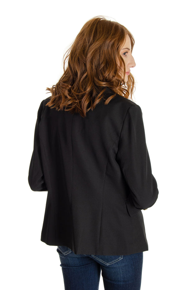 A.Z.I. - Double Breasted Blazer in Black (Z11093)