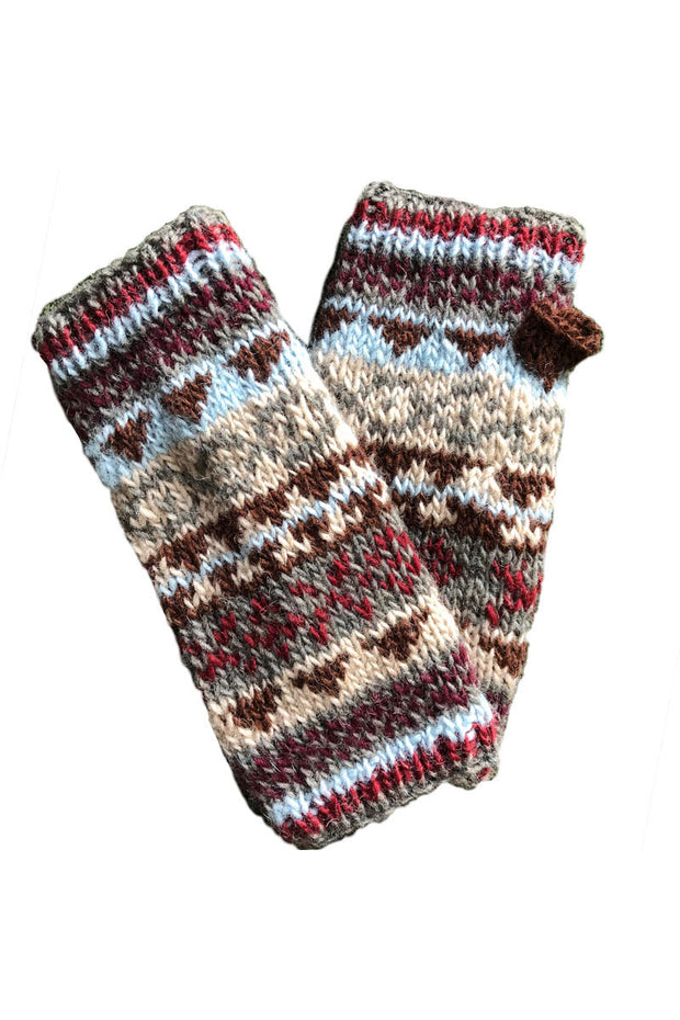 Patterned Knit Handwarmers