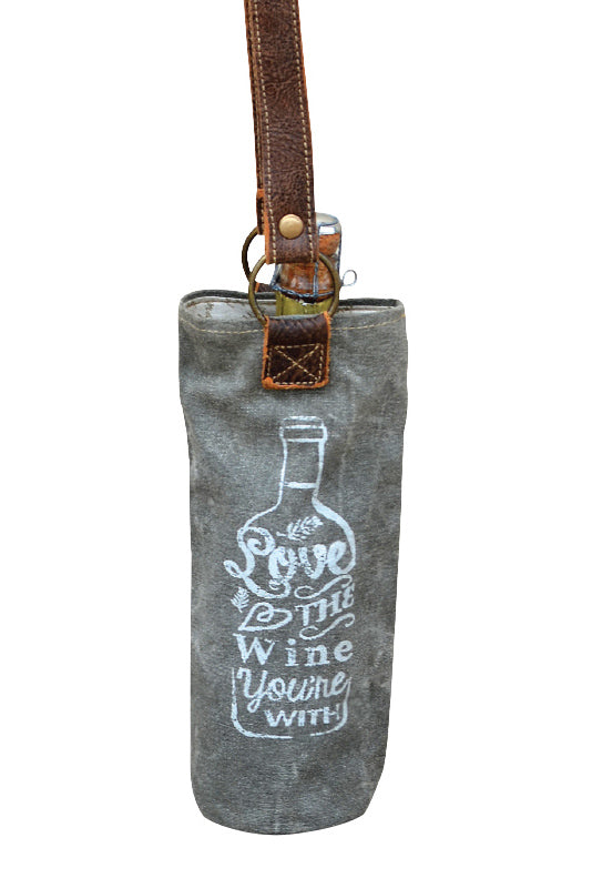 Canvas Wine Bottle Carrier