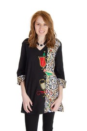 Berek - Animal Happy Hour Top in Black/multi (L14812C)