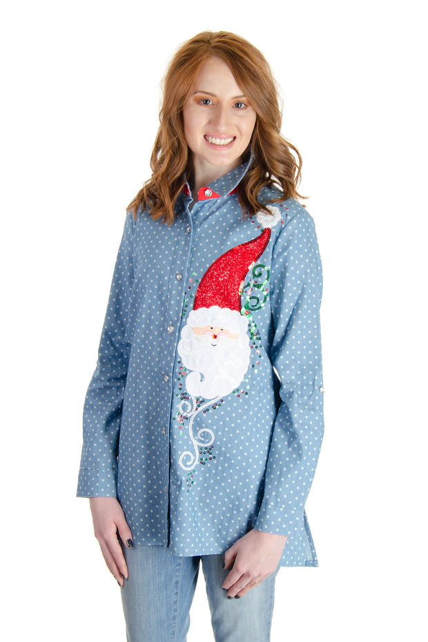Berek - Friendly Claus Blouse in Chambray (K64390CL)