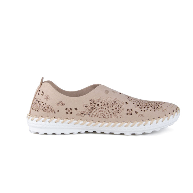 Bernie Mev - Cut Work Shoe in Nude (TW09)