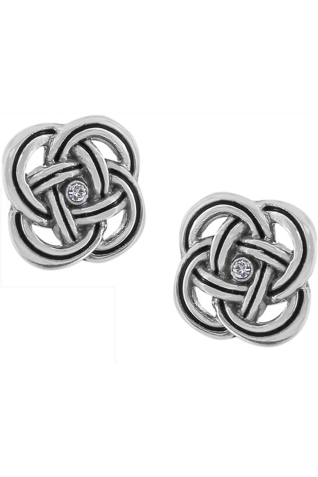Brighton - Interlocked Post Earrings in Silver (JA3600)