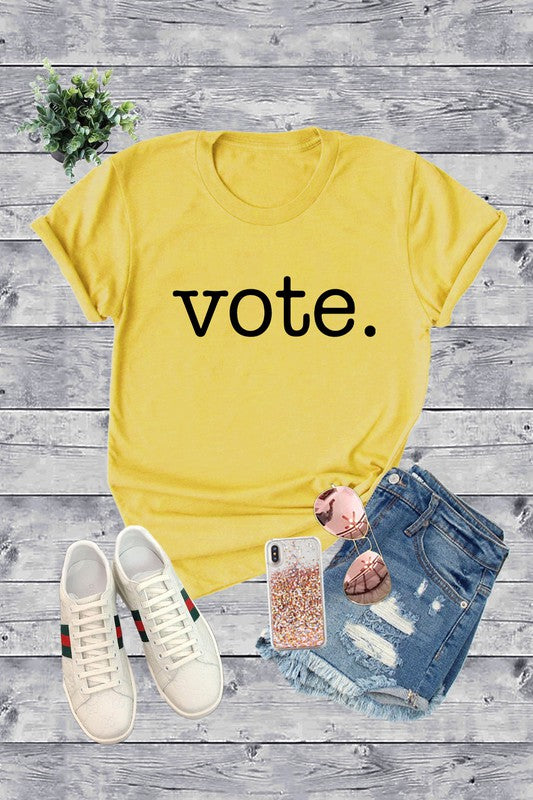 Unisex Vote Tee in Light Gold