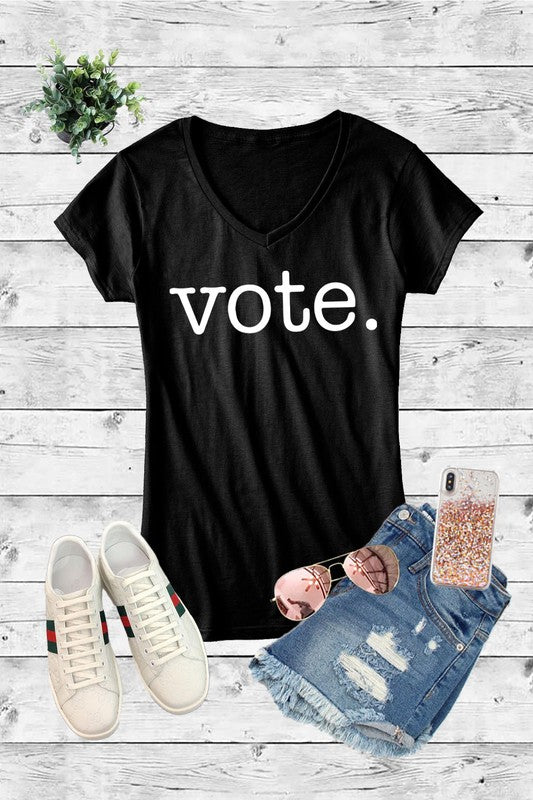 Fitted Vote Tee in Black