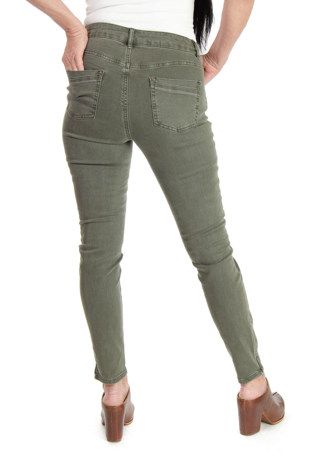 Stretch Denim Jeans in Pine