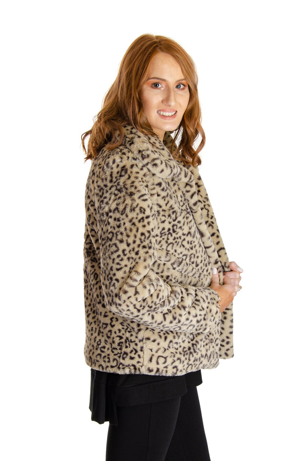 Cupio - Cheetah Chubby Jacket in Light Brown (CU1F141)