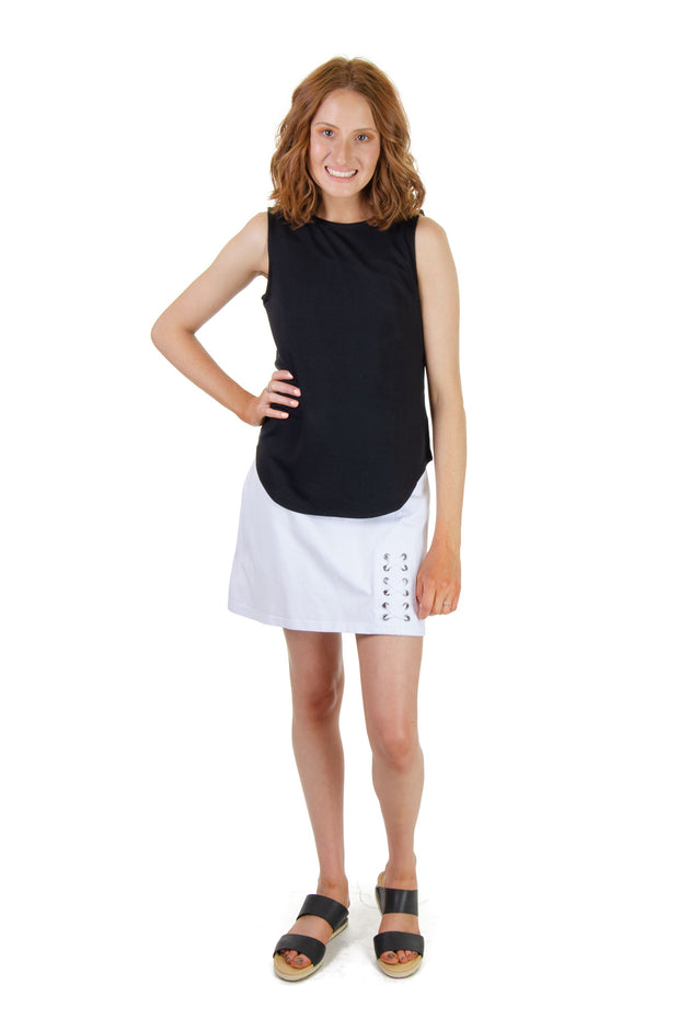 Cupio - Sleeveless Top in Black (CU32466)