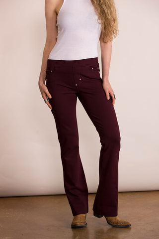 Double D Ranch - Rayado Bootcut Pants in Mahogany (P407)