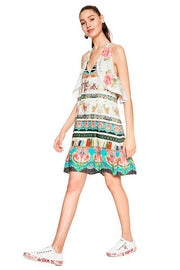 Desigual - Kilian Flowy Print Dress in White/multi (18SWVW92)