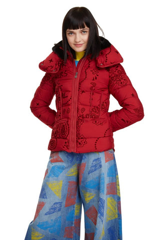 Desigual - Sunna Padded Turtleneck Jacket in Red (19WWEW42)