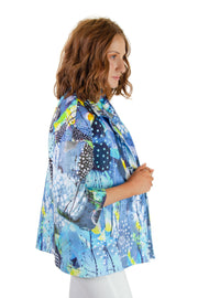 Dolcezza - Artistic Print Jacket in Blue/multi (20627)