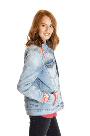 Driftwood - Embroidered Denim Jacket in Light Wash (J4534A)