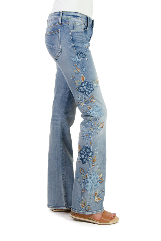 Driftwood - Isabel Flare Jeans in Pale Escapade (P40196A)