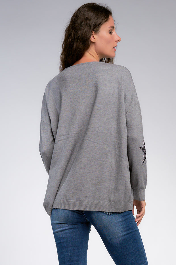 Star Sweater in Grey