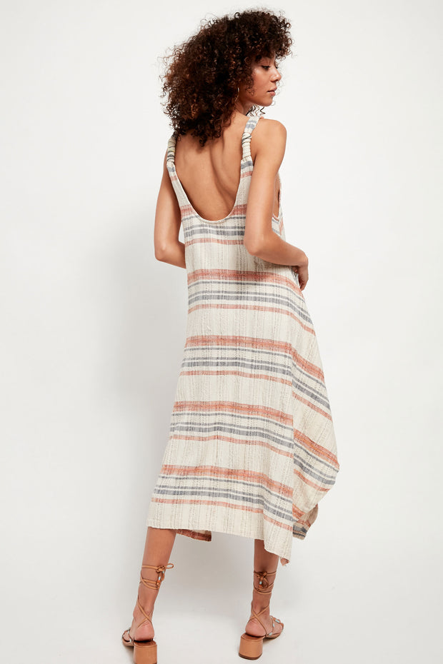 Harper Maxi Dress in Natural Combo