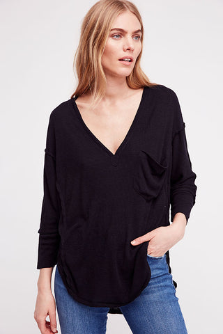 Free People - Golden Gate Tee in Black (OB807813)