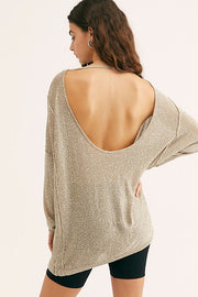Free People - All That Glitters Sweater in Champagne (OB1059907)