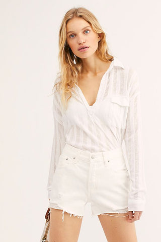 Free People - Sofia Shorts in White (OB88931)
