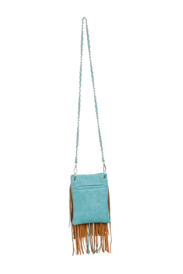 The Chic Bag - Fringe Bag in Turquoise (Chic631)