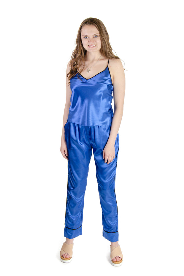 Galleria - Satin Pajama Camisole in Baltic Blue (44000)