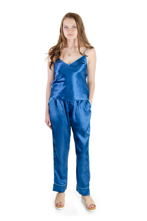 Galleria - Satin Pajama Pants in Navy (42000)