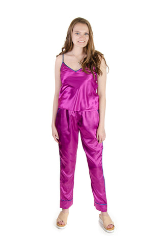 Galleria - Satin Pajama Pants in Purple (42000)