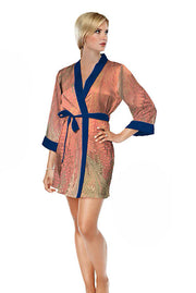 Galleria - Dahlia Short Satin Robe (40063)
