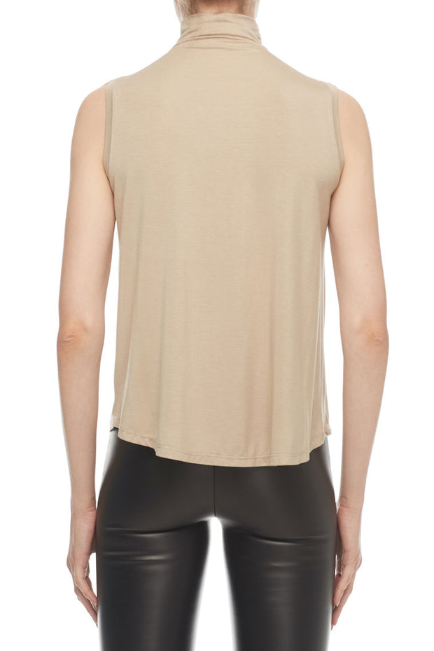 The Kali - High Collar Tank in Desert
